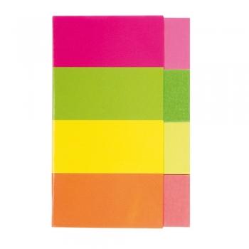 Index autoadeziv Kores, hartie, dimensiuni 20 x 50 mm, 4 culori x 50 file/culoare
