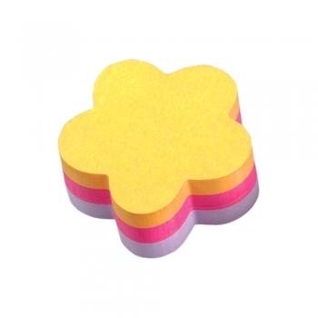 Notite adezive, Post-it, floare, 225 file, multicolor