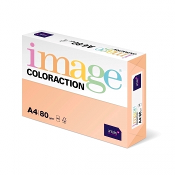 Hartie color Coloraction, A4, 80 g/mp, somon-Savana, 500 coli/top
