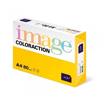 Hartie color Coloraction, A4, 80 g/mp, galben intens-Sevilla, 500 coli/top