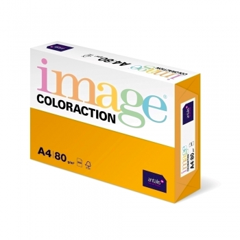 Hartie color Coloraction, A4, 80g/mp, portocaliu, 500 coli/top