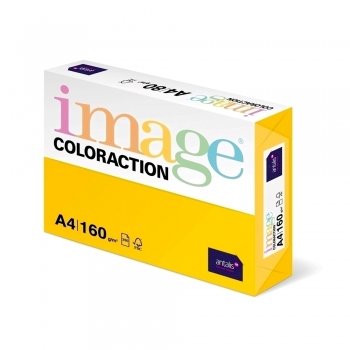 Carton color Coloraction, A4, 160 g/mp, galben intens-Sevilla, 250 coli/top