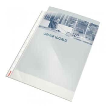 Folie de protectie Esselte, A4, cristal, 55 microni, set de 10 buc