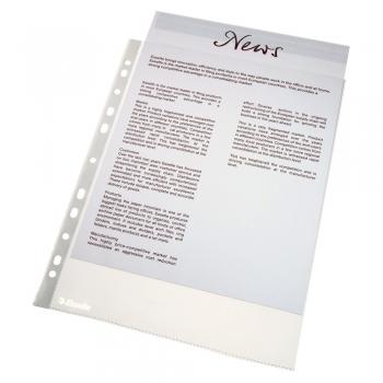 Folie de protectie Esselte, A4, standard, 43 microni, set de 25 buc