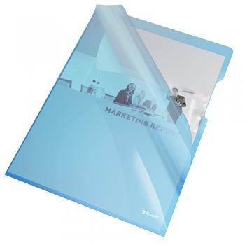 Mapa de protectie Esselte, A4, cristal, 150 mic, albastru set de 25 buc