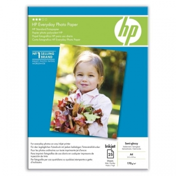 Hartie foto HP Q5451A Semi-glossy, A4, 175 g/mp