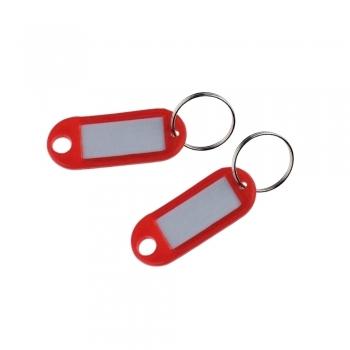 Suport eticheta pentru cheie, diverse culori, 10 bucati/set