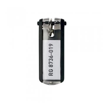 Suport eticheta pentru cheie, negru, 6 bucati/set