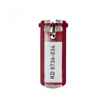 Suport eticheta pentru cheie, rosu, 6 bucati/set