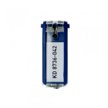 Suport eticheta pentru cheie, albastru, 6 bucati/set