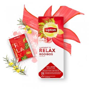 Ceai Lipton Classic, infuzie Frunze de Rooibos, 25 plicuri