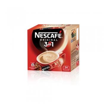 Cafea solubila 3 in 1 Nescafe Original, 24 plicuri/cutie