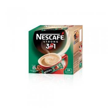 Cafea solubila 3 in 1 Nescafe Strong, 24 plicuri/cutie