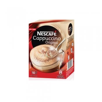 Cafea instant Nescafe Cappuccino Original, 10 plicuri/cutie