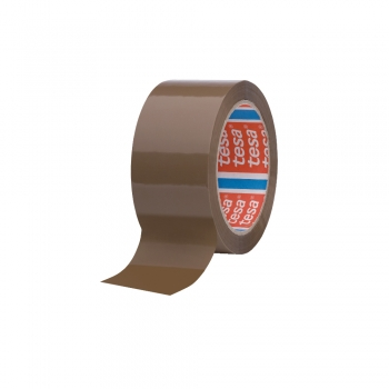 Banda adeziva Tesa, 48 mm x 66 m, maro, adeziv din cauciuc sintetic