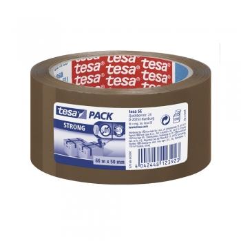 Banda adeziva Tesa STRONG, 50 mm x 66 m, maro