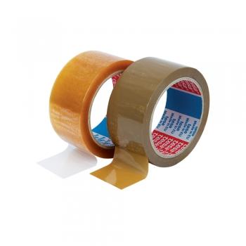 Banda adeziva Tesa, 48 mm x 66 m, maro