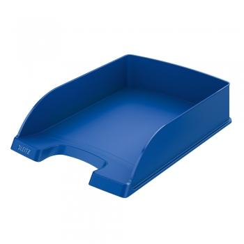 Tavita pentru documente Leitz Plus standard, plastic, albastra