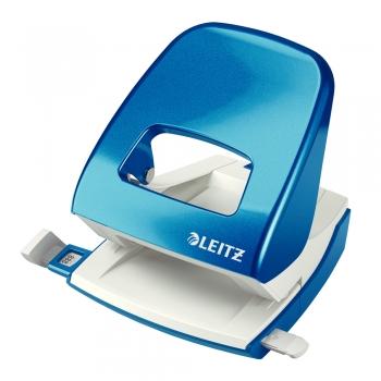 Perforator metalic Leitz WOW 5008 NeXXt Series, cutie, 30 coli, albastru