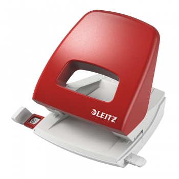 Perforator plastic Leitz 5005 NeXXt Series, 25 coli, rosu