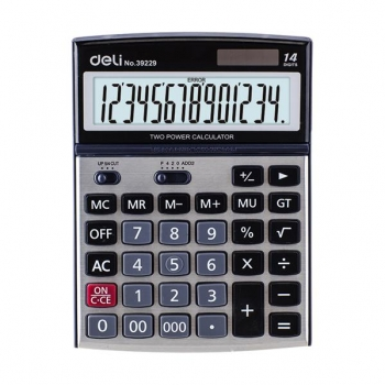 Calculator Birou 14 Digits Metal 39229 Deli