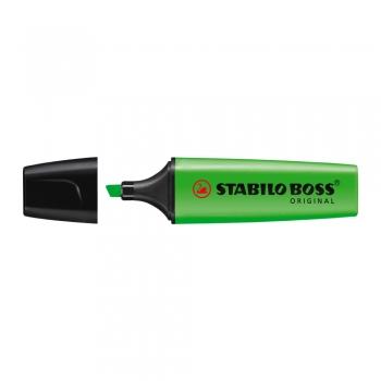 Textmarker Stabilo Boss, varf 2-5 mm, verde