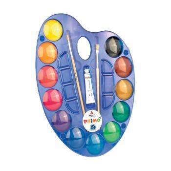 Acuarele Morocolor Primo, diametru pastila 44 mm, 12 culori/cutie