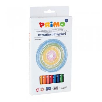 Creioane colorate Morocolor Primo Tris Jumbo, 12 culori/cutie