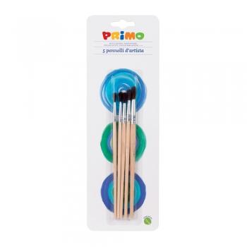 Set  pensule Morocolor Primo, rotunde, 5 bucati/set
