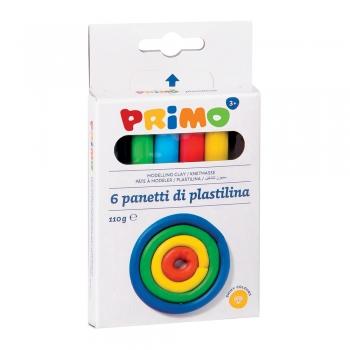 Plastilina Morocolor Primo, 120 g/cutie, 6 culori/cutie