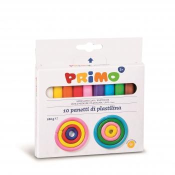 Plastilina Morocolor Primo, 180 g/cutie, 10 culori/cutie