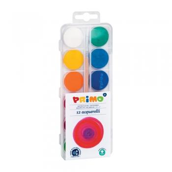 Acuarele Morocolor Primo, diametru pastila 25 mm, 12 culori