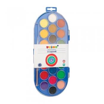 Acuarele Morocolor Primo, diametru pastila 30 mm, 22 culori
