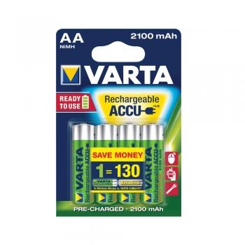 Acumulatori Varta, HR6, AA, 2100 mAh, 4 bucati/set
