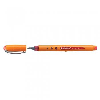 Roller cu cerneala, Stabilo, Bionic Worker Colorful, 0.5 mm, plastic, rosu
