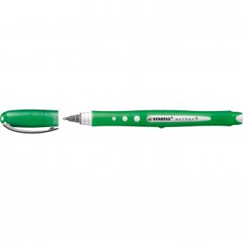 Roller cu cerneala, Stabilo, Bionic Worker Colorful, 0.5 mm, plastic, verde