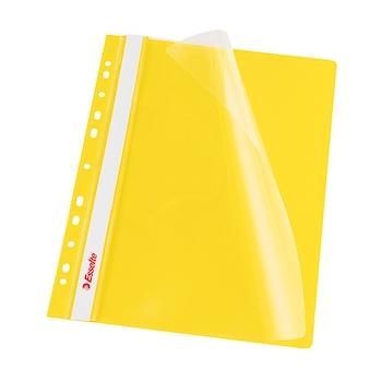 Dosar PP cu multiperforatii Esselte VIVIDA, A4, galben, 10 buc/set