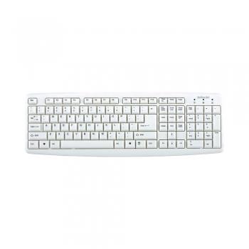 Tastatura Activejet K-1013, cu fir, alba