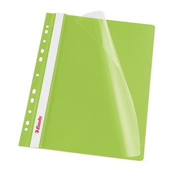 Dosar PP cu multiperforatii  Esselte VIVIDA, A4, verde, 10 buc/set