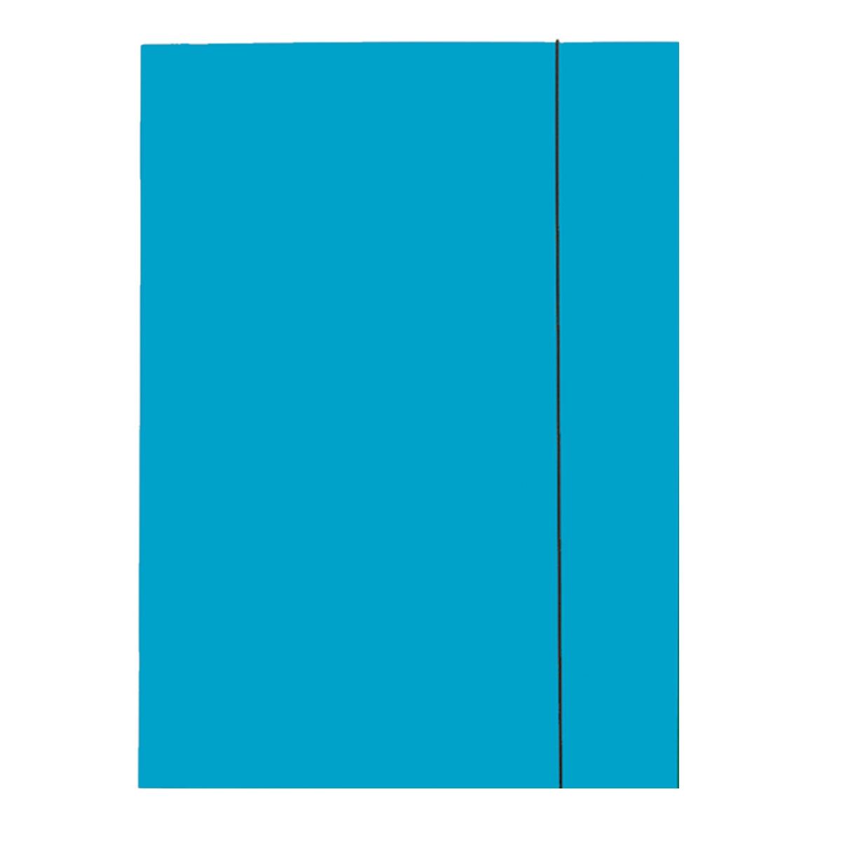 Mapa Esselte Economy din carton, cu elastic, albastru deschis
