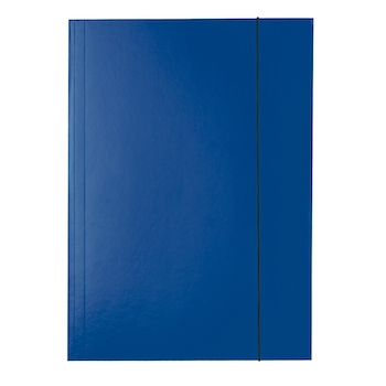 Mapa Esselte Economy din carton, cu elastic, albastru inchis