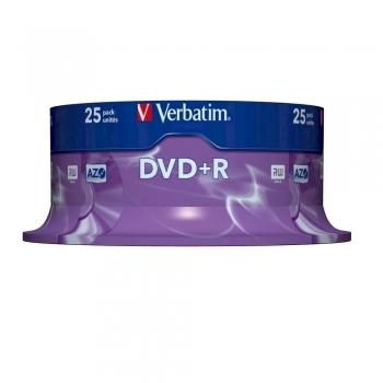 DVD+R Verbatim, 16x, 4.7 GB, 25 bucati/cake