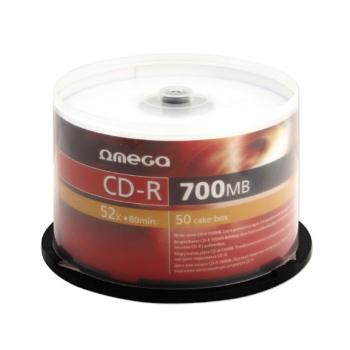 CD-R Omega, 52x, 700 MB, 50 bucati/shrink