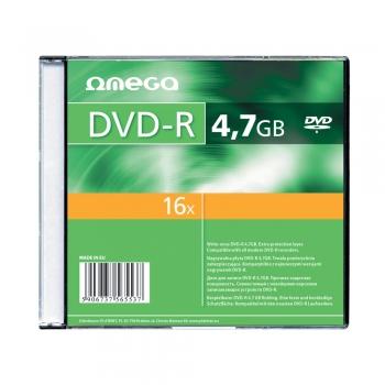 DVD±R Omega, 16x, 4.7 GB, slim case, 10 bucati/set