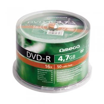 DVD±R Omega, 16x, 4.7 GB, 50 bucati/shrink