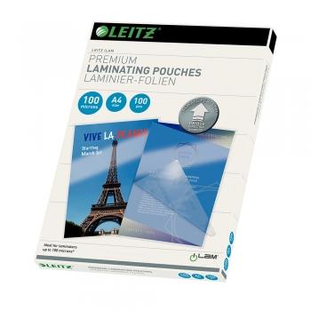 Folie Leitz UDT pentru laminare la cald, A4, 100 microni