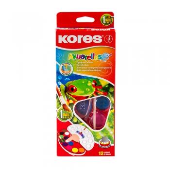 Acuarele Kores Akuarellos, 30 mm, 12 culori/set