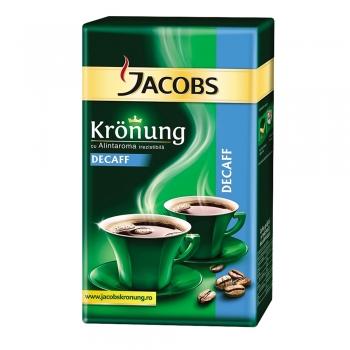 Cafea macinata decofeinizata Jacobs Kronung, 250 g