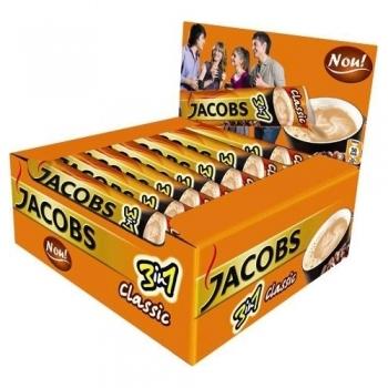 Cafea solubila Jacobs 3 in 1 Classic, 24 plicuri/cutie