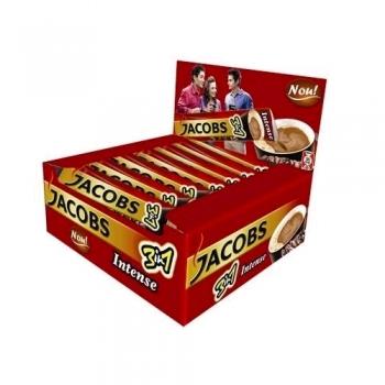 Cafea solubila Jacobs 3 in 1 Intense, 24 plicuri/cutie